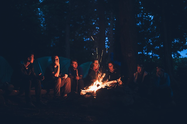 get confidence to play guitar at campfire